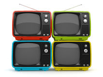 Multicolored retro TV Royalty Free Stock Photo