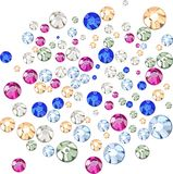 Multicolored rhinestones Royalty Free Stock Photos