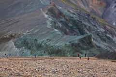 Multicolored rhyolite mountains in Landmannalaugar Stock Photos