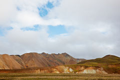 Multicolored rhyolite mountains in Landmannalaugar Stock Photo