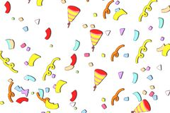 Multicolored ribbon on White background. royalty free illustration