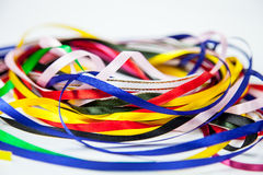 Multicolored ribbons Stock Photography