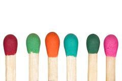 Multicolored rij van gelijken Royalty-vrije Stock Foto