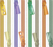 Multicolored ritssluitingsclose-up - vector illustratie