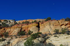 Multicolored rocks, Utah. Multicolored rocks in secluded side canyon near Spencer Flat Road, Utah Stock Photography