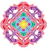 Multicolored rond ornament vector illustratie