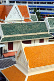 Multicolored roofs of buildings in Bangkok Royalty Free Stock Photo