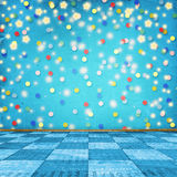 Multicolored room for happy holidays Stock Image