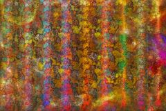Multicolored rough stripes, grunge background texture Royalty Free Stock Photography