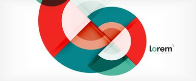 Multicolored round shapes abstract background vector illustration