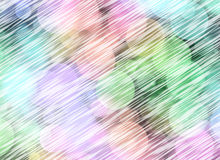 Multicolored Round Shapes in Chaotic Arrangement with blur lines Royalty Free Stock Images