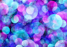 Multicolored Round Shapes in Chaotic Arrangement. Holiday backgr Royalty Free Stock Photos