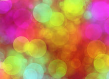 Multicolored Round Shapes in Chaotic Arrangement. Holiday bokeh Stock Images