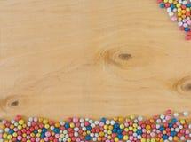 Multicolored round sugar candies stock photos