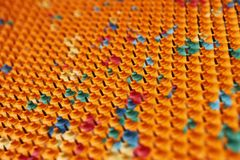 Multicolored rubber with metal needles Stock Photo