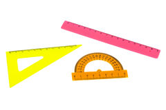 Multicolored rulers Stock Photo