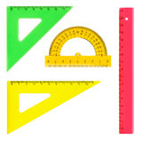 Multicolored rulers Stock Images