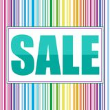 Multicolored Sale Banner. royalty free illustration