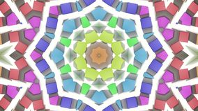 Multicolored samenvatting geanimeerde patronen Caleidoscoop 3d geef terug vector illustratie