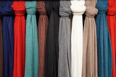 Multicolored scarves Royalty Free Stock Photos