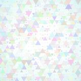 Multicolored scattered triangles background Royalty Free Stock Photos