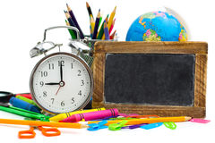Multicolored school items Royalty Free Stock Image