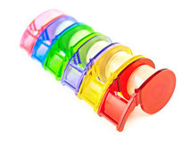 Multicolored Scotch tape collection Stock Photos