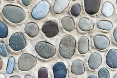 Multicolored sea pebbles background Royalty Free Stock Images