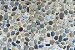 multicolored sea pebbles background Royalty Free Stock Photo