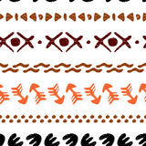 Multicolored seamless ethnic background handmade. Cute abstract drawing. Vector illustration Royalty Free Stock Images