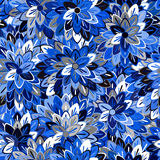 Multicolored Seamless Floral Pattern Stock Photo