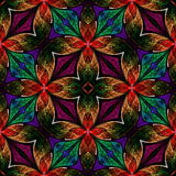 Multicolored seamless fractal pattern in stained-glass window st Stock Photo