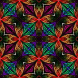 Multicolored seamless fractal pattern in stained-glass window st. Yle. You can use it for invitations, notebook covers, phone case, postcards, cards, wallpapers Stock Images