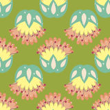 Multicolored seamless pattern with floral elements.  Royalty Free Stock Photos