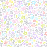 Multicolored seamless pattern of flowers Royalty Free Stock Photo