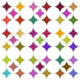 Multicolored seamless pattern over white Royalty Free Stock Photo