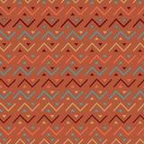 Multicolored seamless tribal pattern background. stock illustration
