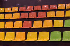 Multicolored seats Stock Image
