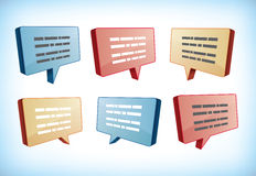 Speech and text boxes Royalty Free Stock Image