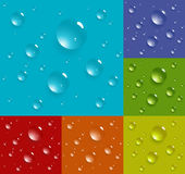 Multicolored set of drop patterns Stock Image