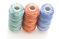Multicolored sewing rolls Stock Photography