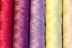 Multicolored sewing threads Royalty Free Stock Photography