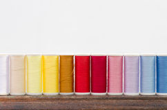Multicolored sewing threads background Royalty Free Stock Photography