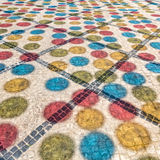 Multicolored Shadows from Decorative Balls on Paving Stone Stock Images
