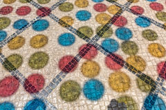 Multicolored Shadows from Decorative Balls on Paving Stone Royalty Free Stock Image