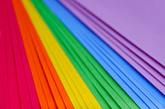 Multicolored sheets of paper Royalty Free Stock Images
