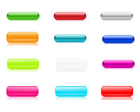 Multicolored shine buttons for your web design. Stock Image