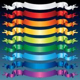 Multicolored Shiny Ribbons. Vector Stock Photos