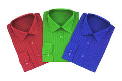 Multicolored shirts Stock Images