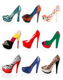 Multicolored shoes Royalty Free Stock Photo